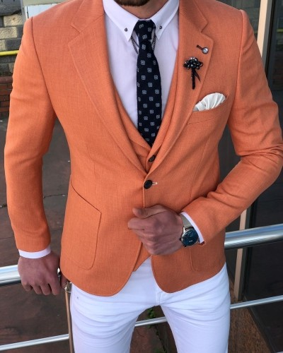 Peach Suit by GentWith.com with Free Shipping