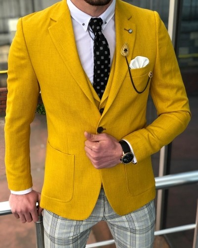 Yellow Suit by GentWith.com with Free Shipping