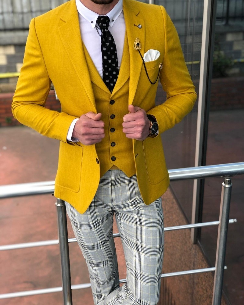Yellow Suit Men by GentWith.com with Free Shipping