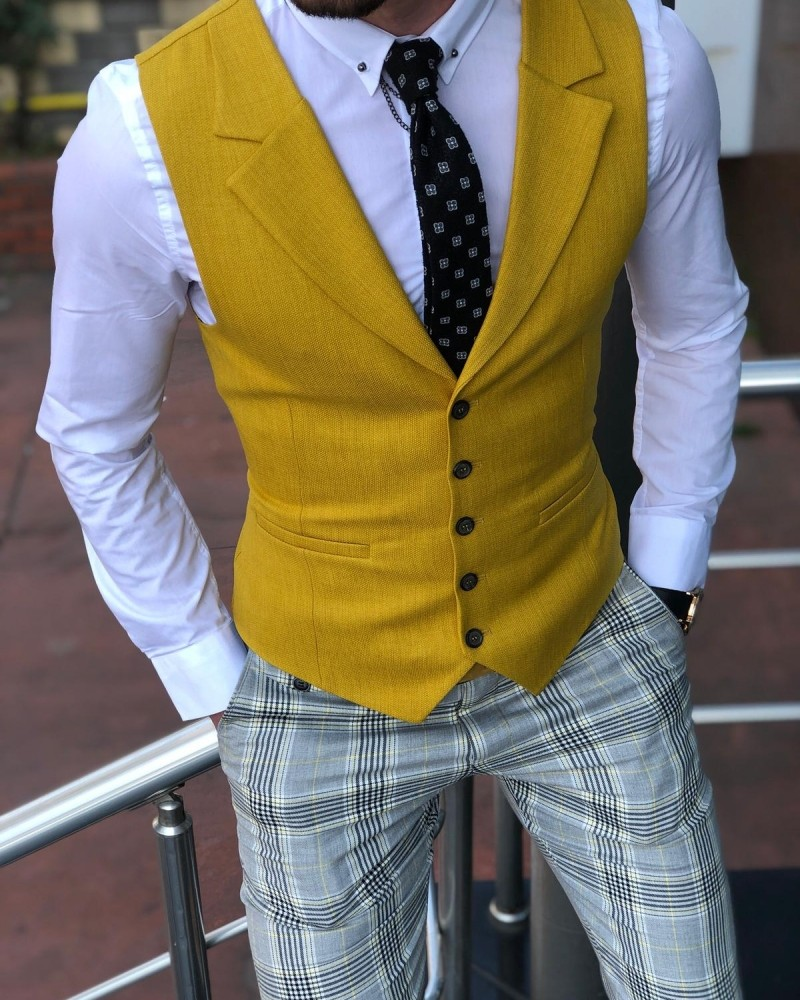 Yellow Vest Men by Gentwith.com with Free Shipping