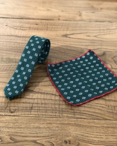 Green Floral Skinny Tie by GentWith.com with Free Shipping