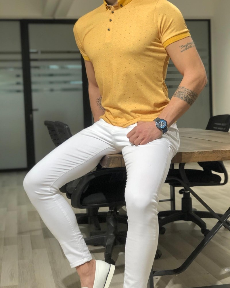 Yellow T-shirt by Gentwith.com with Free Shipping