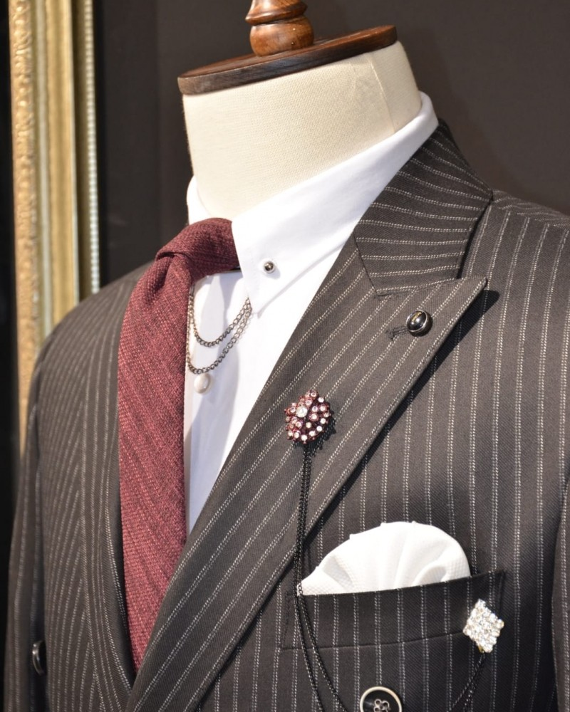 Double Breasted Striped Suit by GentWith.com | Free Shipping