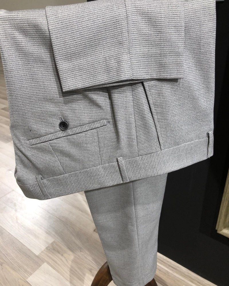 Men's Gray Suit by GentWith.com with Free Shipping