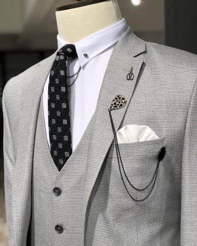 Gray Suit Men by GentWith.com with Free Shipping