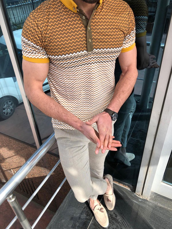 Slim Fit Camel Polo Shirt by GentWith.com with Free Shipping