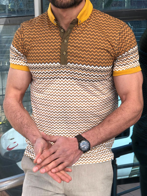 Camel Slim Fit Polo T-Shirt by GentWith.com with Free Shipping