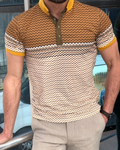 Camel Slim Fit Polo Shirt by GentWith.com with Free Shipping