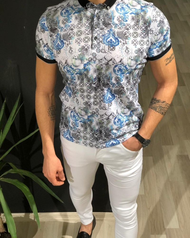 White Men's T-shirt by Gentwith.com with Free Shipping