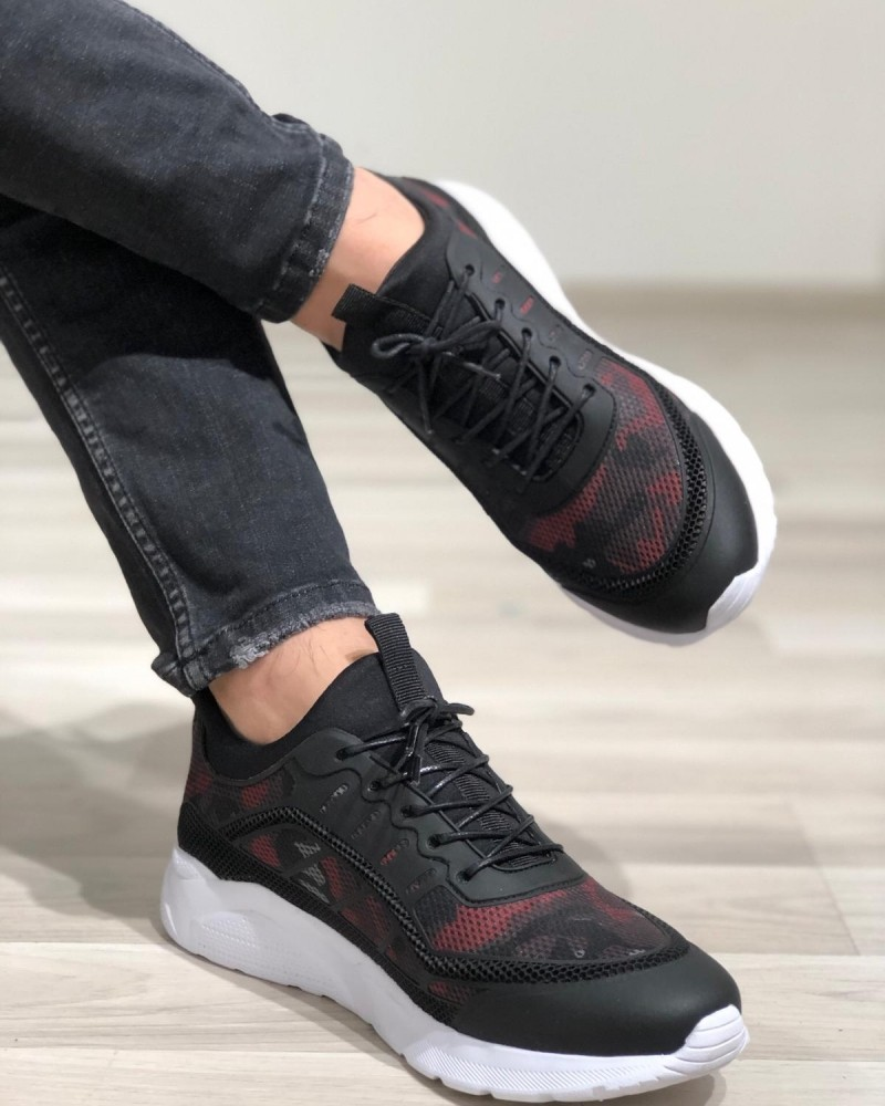 Black Leather Sneakers by GentWith.com with Free Shipping