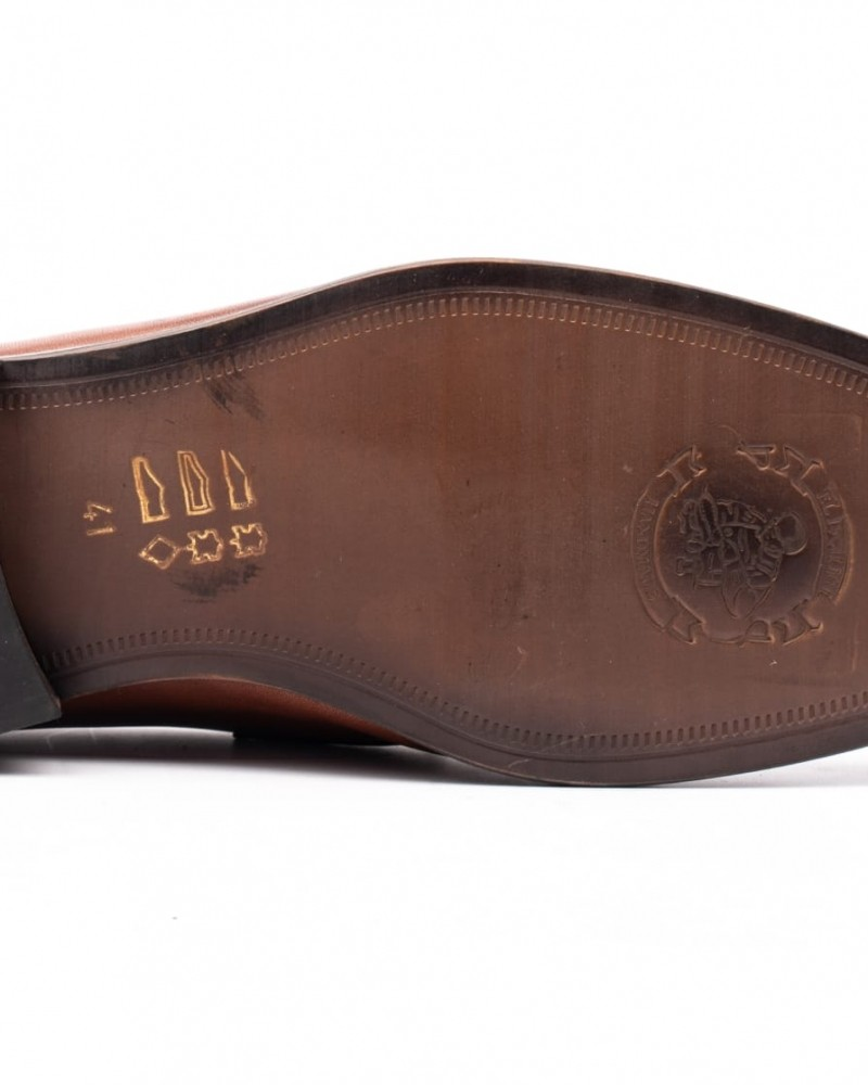 Tan Cap Toe Loafer by GentWith.com with Free Shipping