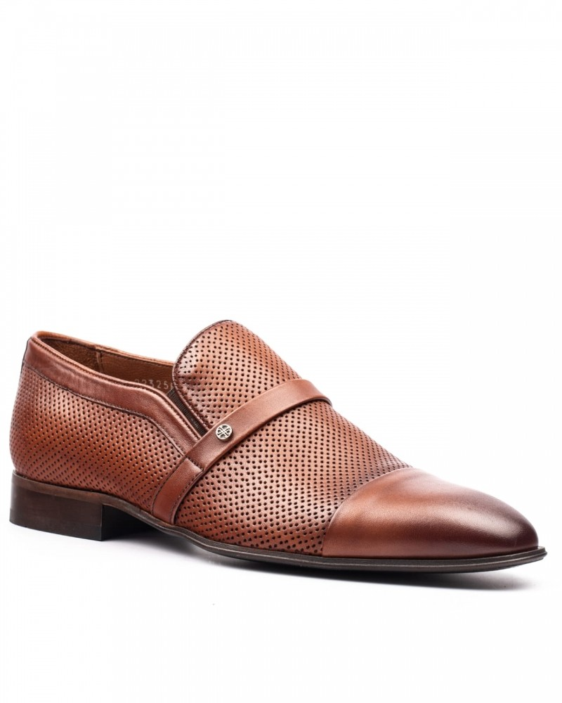 Cap Toe Tan Loafer by GentWith.com with Free Shipping