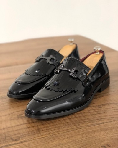 Black Kiltie Leather Loafer by GentWith.com with Free Shipping