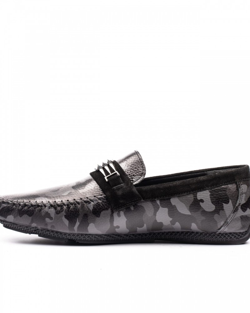 Black Camouflage Loafer by GentWith.com with Free Shipping