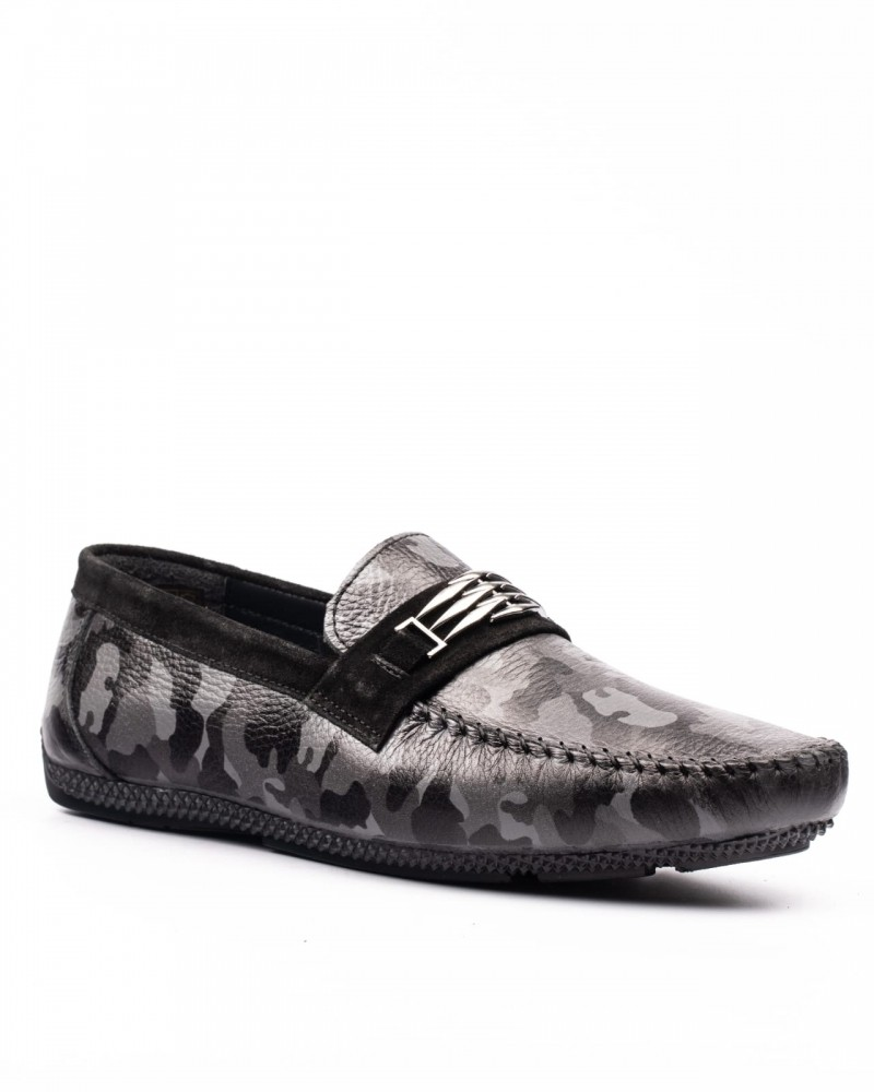 Men's Black Camouflage Loafer by GentWith.com with Free Shipping