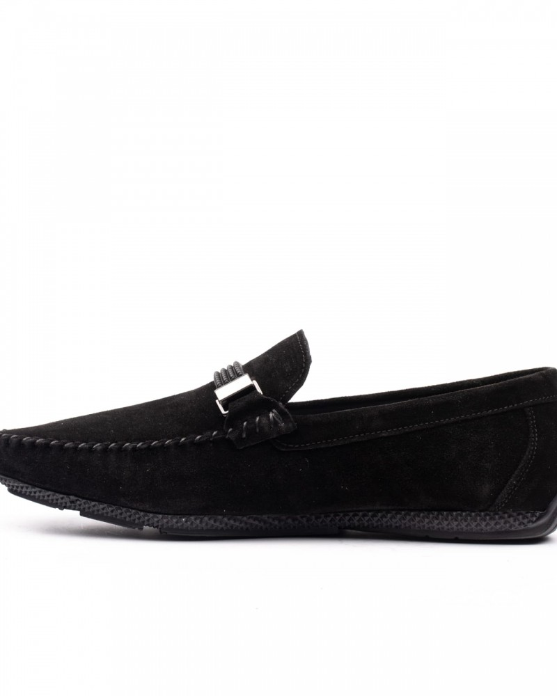 Black Suede Loafer by GentWith.com with Free Shipping