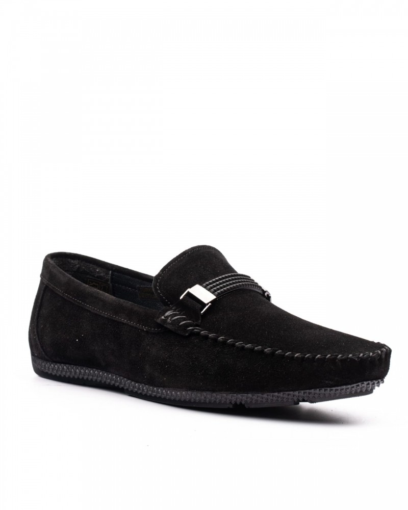 Suede Black Loafer by GentWith.com with Free Shipping