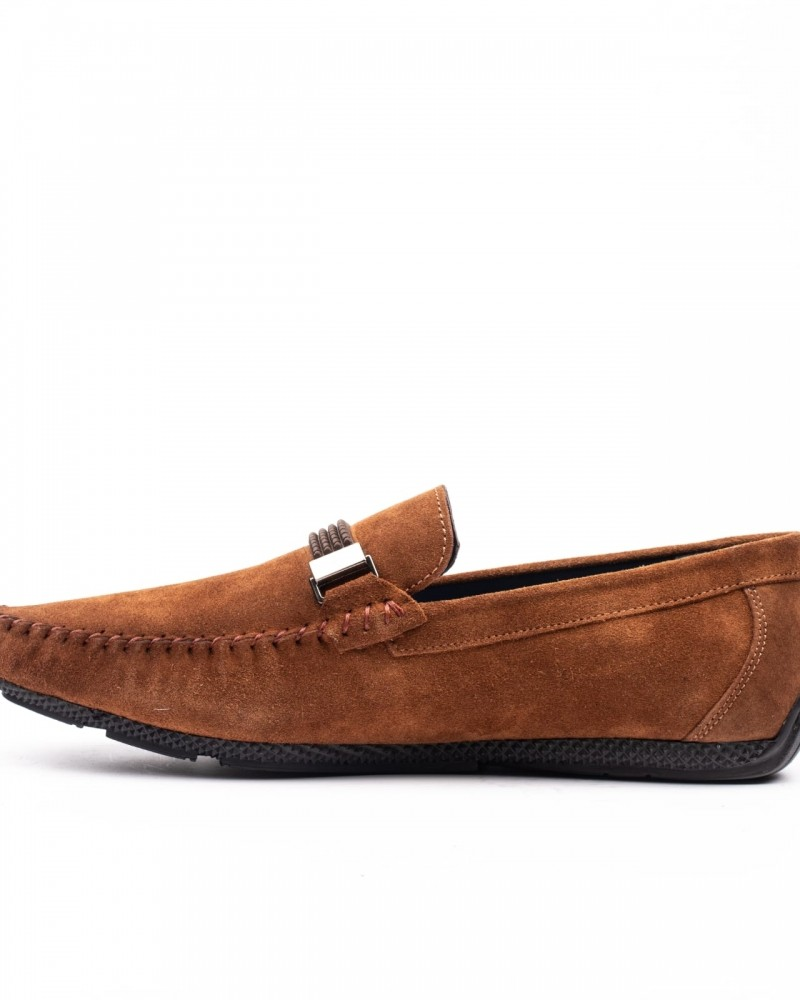 Tan Suede Loafer by GentWith.com with Free Shipping
