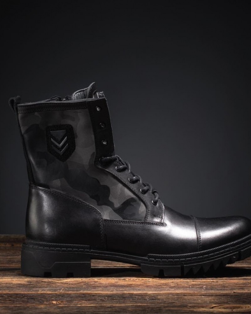 Black Military Boot by Gentwith.com with Free Shipping