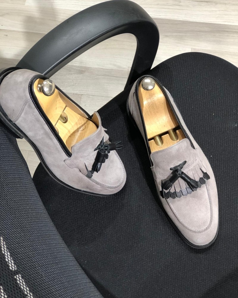 Mink Kiltie Tassel Suede Loafer by Gentwith.com with Free Shipping