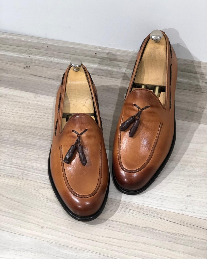 Tan Tassel Loafer by GentWith.com with Free Shipping