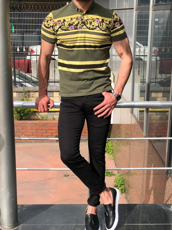Khaki Slim Fit Polo Shirt by GentWith.com with Free Shipping