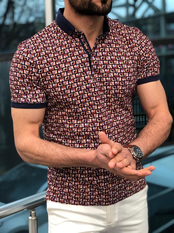 Beige Slim Fit Polo Shirt by GentWith.com with Free Shipping
