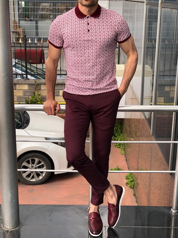 Claret Red Slim Fit Polo Shirt by GentWith.com with Free Shipping