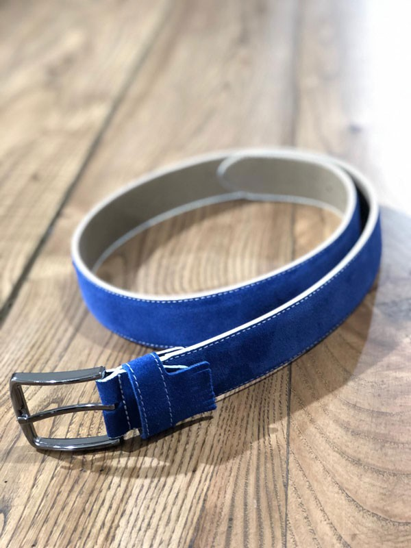 Sax Suede Belt by GentWith.com with Free Shipping