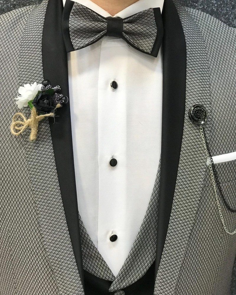 Slim Fit Gray Tuxedo by GentWith.com with Free Shipping