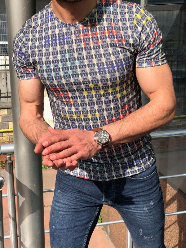 Blue Slim Fit T-Shirt by GentWith.com with Free Shipping