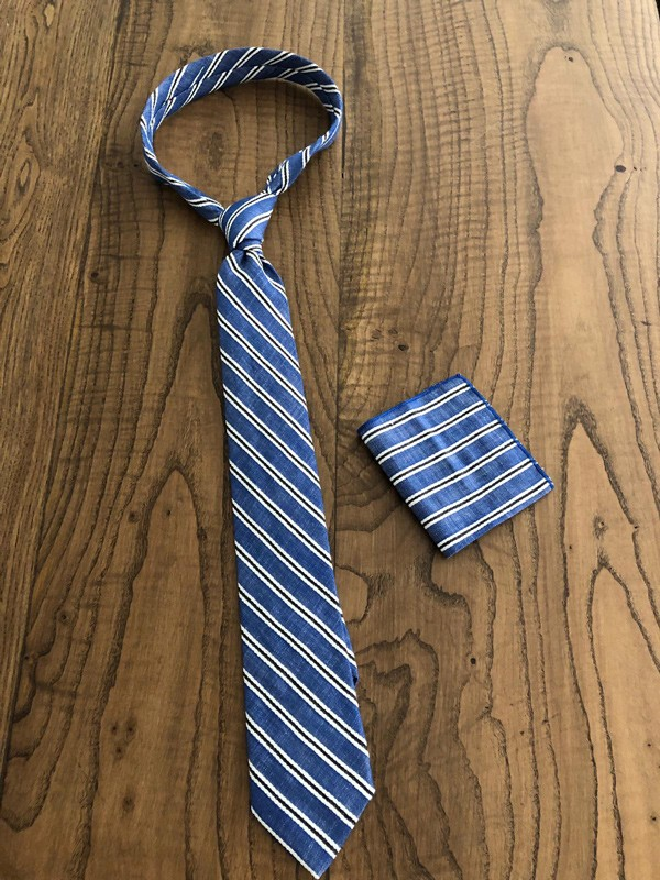 Sax Striped Wool Tie by GentWith.com with Free Shipping