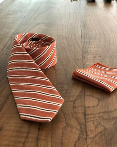 Tile Striped Wool Tie by GentWith.com with Free Shipping