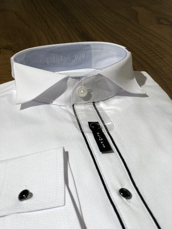 White Slim Fit Dress Shirt by GentWith.com with Free Shipping