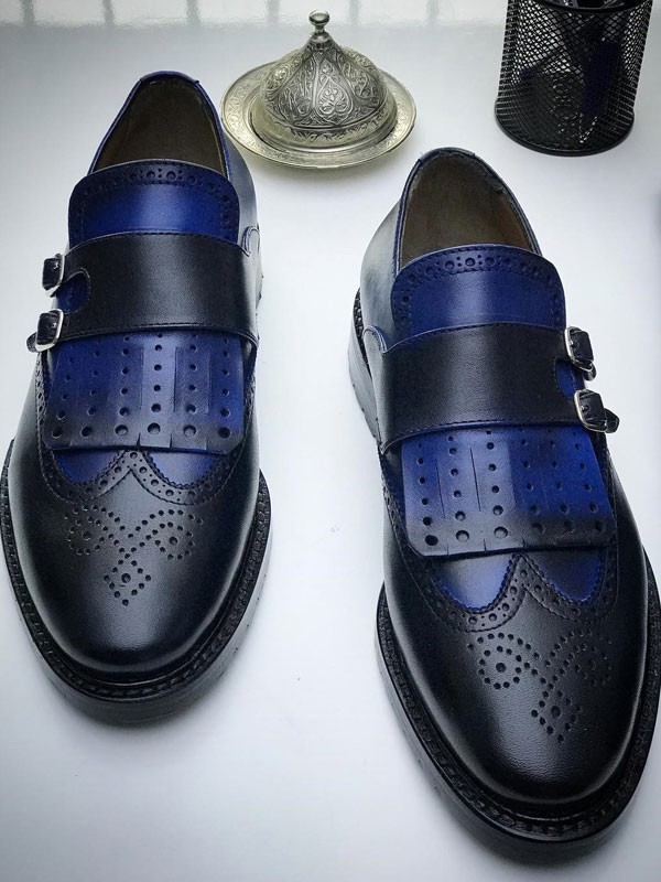 Buy Blue Monk Strap by Gentwith.com with Free Shipping