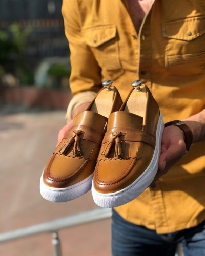 Brown Tassel Espadrille Loafer by GentWith.com with Free Shipping