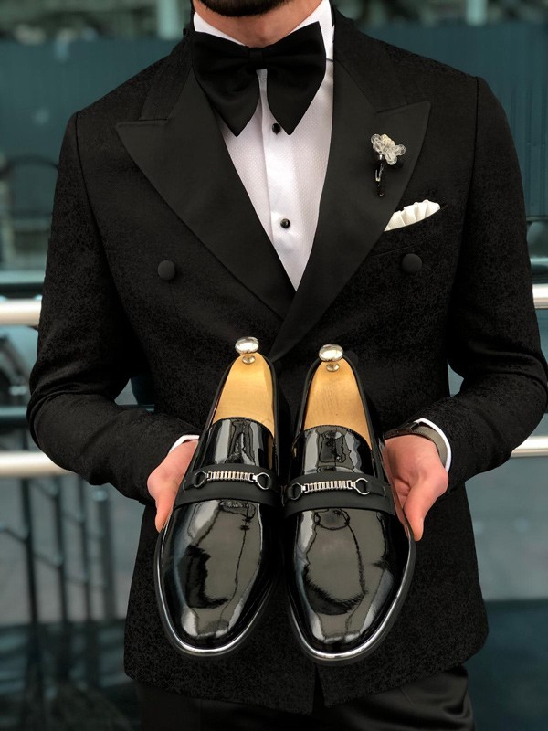 Black Buckle Loafer by GentWith.com with Free Shipping