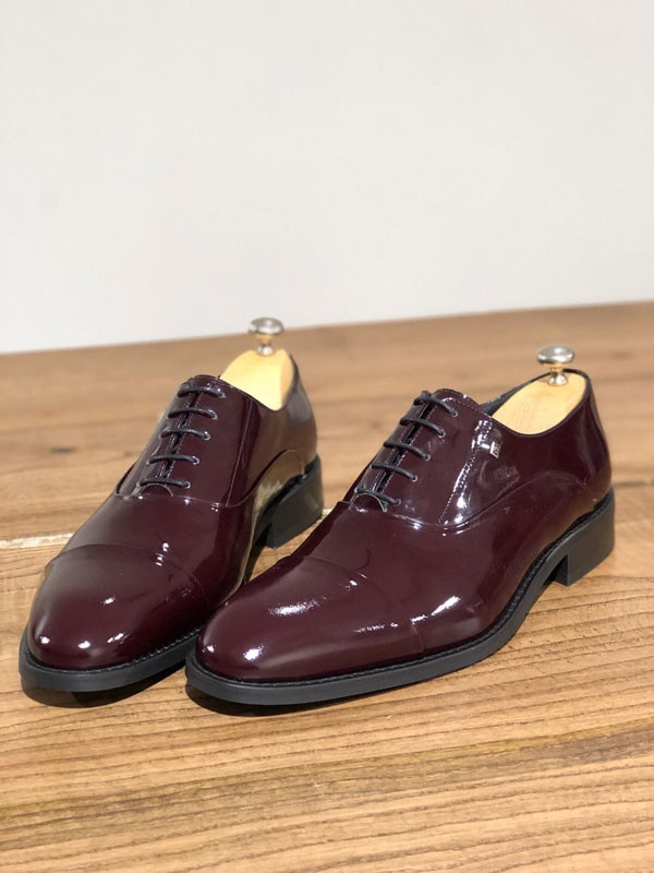 Burgundy Leather Oxford by GentWith.com with Free Shipping