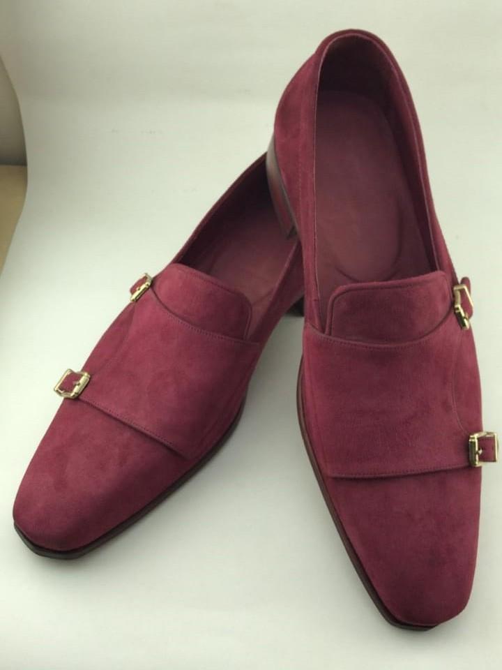 Buy Claret Red Bespoke Suede Double