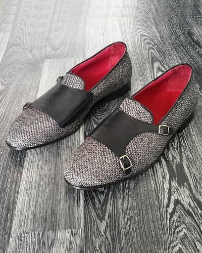 Gray Monk Strap Loafer by Gentwith.com with Free Shipping