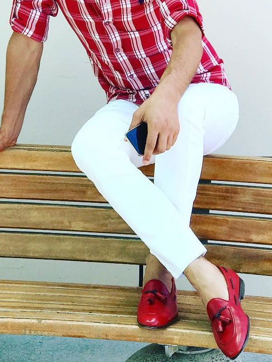 Red Tassel Loafer by GentWith.com with Free Shipping