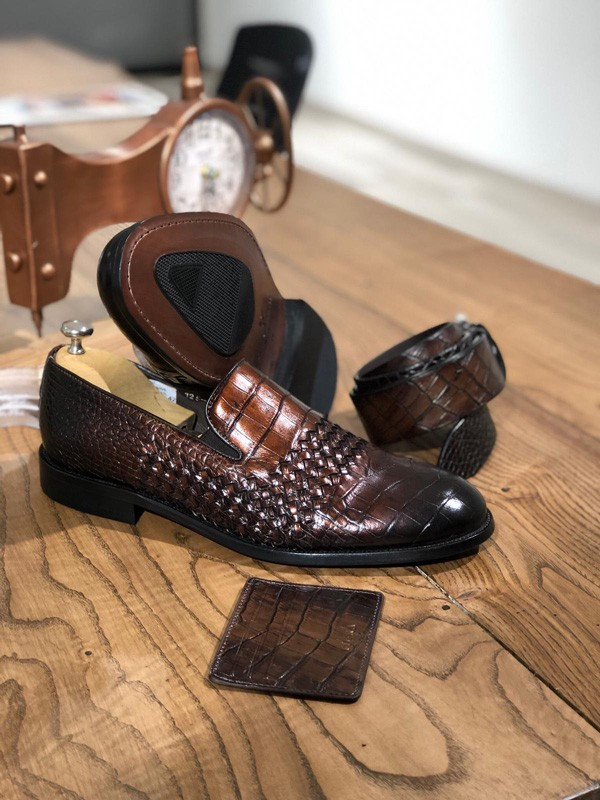 Brown Leather Loafer by GentWith.com with Free Shipping