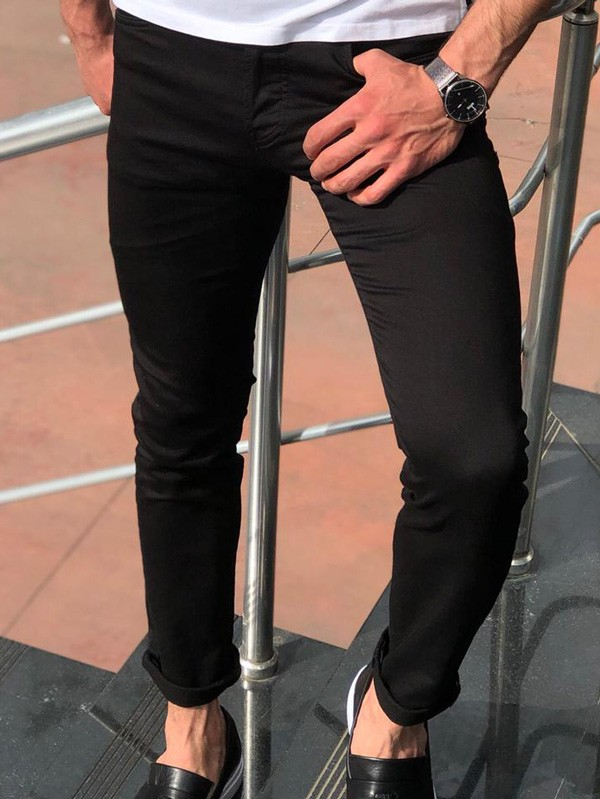 Black Jeans by GentWith.com with Free Shipping