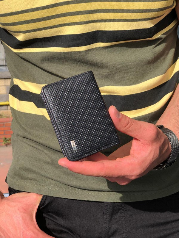 Black Leather Card Holder by GentWith.com with Free Shipping