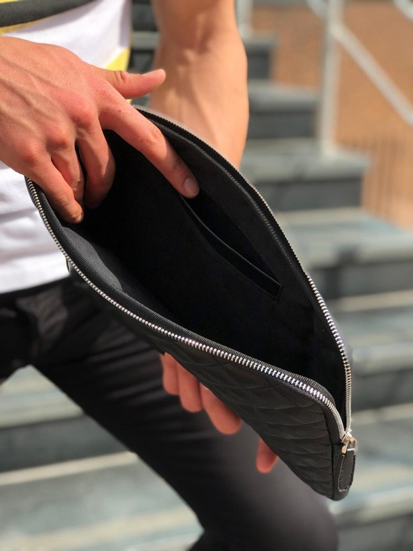 Black Leather Clutch Bag by GentWith.com with Free Shipping