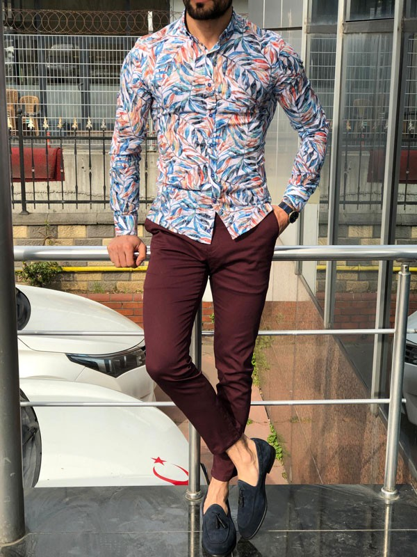 White Slim Fit Casual Shirt by GentWith.com with Free Shipping