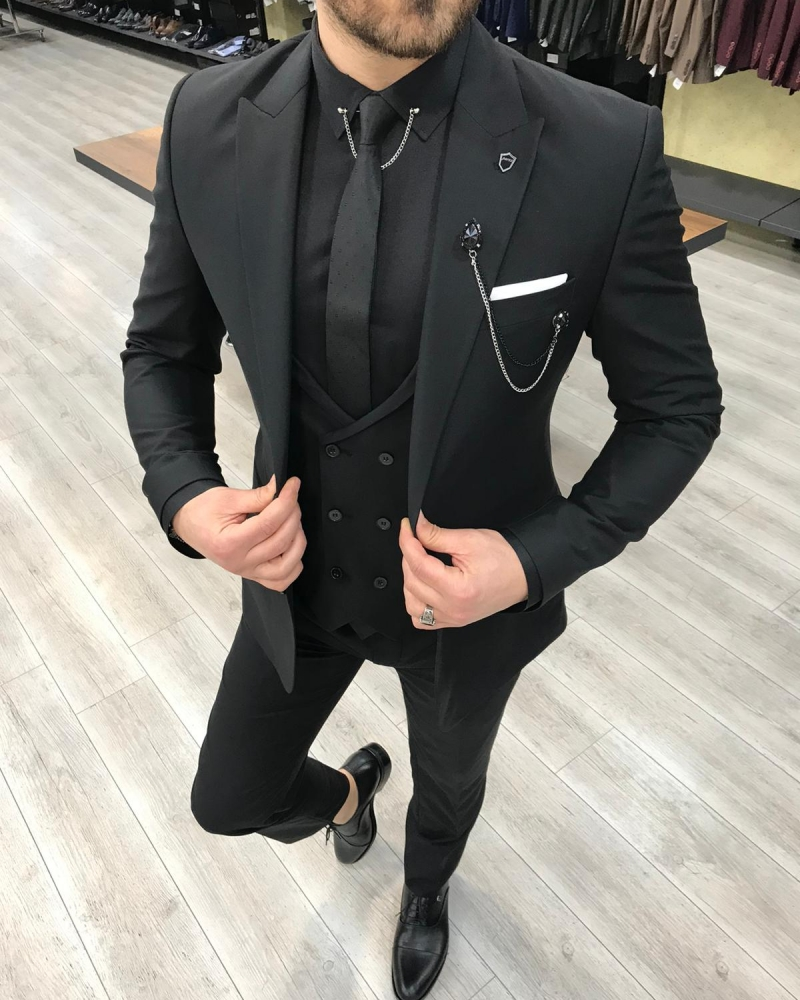 Black Men Suit by GentWith.com with Free Worldwide Shipping