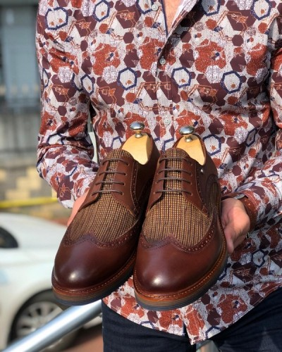 Brown Laced Oxford by GentWith.com with Free Shipping