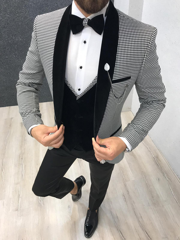 Gray Slim Fit Tuxedo by GentWith.com with Free Shipping