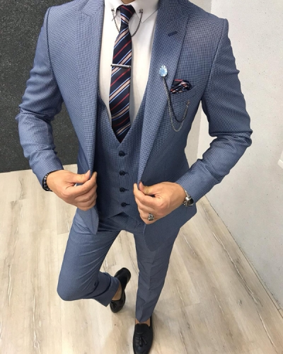 Ice Blue Slim Fit Suit by GentWith.com with Free Shipping
